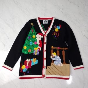Vintage Ugly Christmas Knit Cardigan Sweater